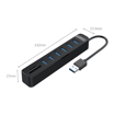 Picture of Orico 6 Port USB3.0 Hub with Card Reader - Black
