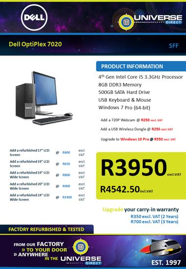 Picture of Dell OptiPlex 7020 i5 8GB 500GB W7P SFF