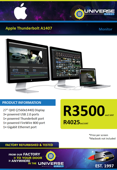 Picture of Apple Thunderbolt A1407 Monitor