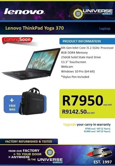 "Picture of COMING SOON   Lenovo ThinkPad yoga 370 i5 8GB 256GB 13.3"" TS W10P Laptop"