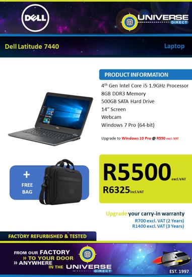 Picture of Dell Latitude E7440 i5 8GB 500GB W7P Laptop