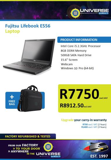 Picture of Fujitsu LifeBook E556 i5 8GB 500GB W10P Laptop