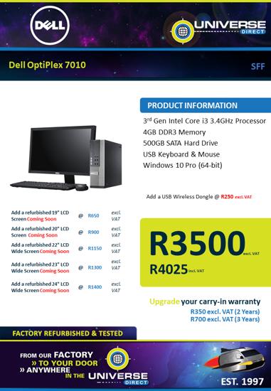 Picture of Dell OptiPlex 7010 i3 4GB 500GB W10P SFF