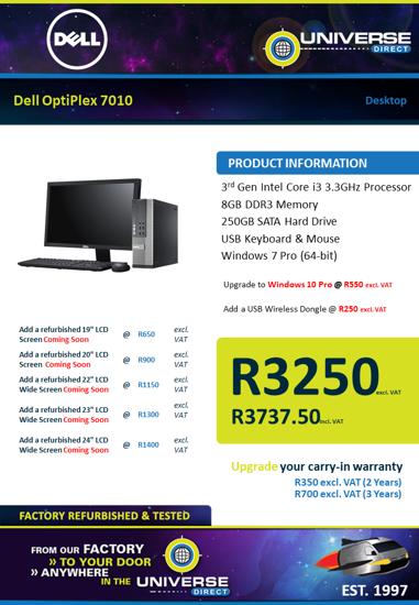 Picture of Dell OptiPlex 7010 i3 8GB 250GB W7P Desktop