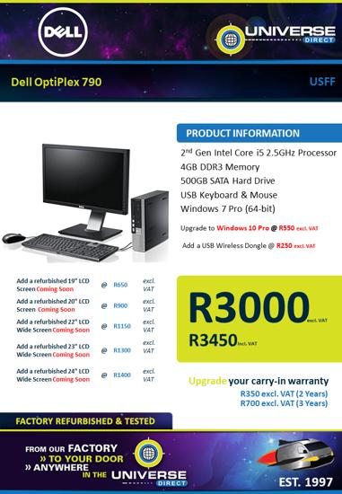 Picture of Dell OptiPlex 790 i5 4GB 500GB W7P USFF