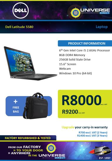Picture of Dell Latitude 5580 i5 8GB 256GB W10P Laptop